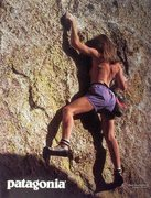 Rock Climbing Photo: Patagonia ad (1987) with a little skin  Photo by G...