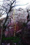 Rock Climbing Photo: read between the lines