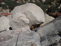 Rock Climbing Photo: Looking down on my belayer