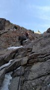 Rock Climbing Photo: The first mixed pitch we belayed moving up onto th...