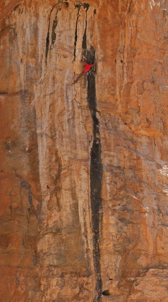 Ed continues up the black streak<br> Bronner (5.14)