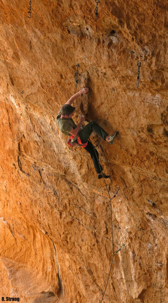 "Rock Climbing Photo: Ben heads into the first crux Enemy ""T"" ..."