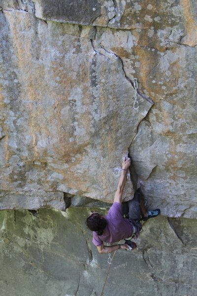Rock Climbing Photo: Adam Stackable with a double kneebar rest.