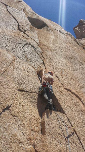 """Rock Climbing Photo: Bodacious cracks on P3 of """"Tortiritos de Caca..."""