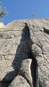Rock Climbing Photo: Follow the rope up to the finger crack just left o...
