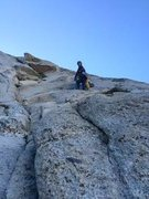 Rock Climbing Photo: Richard at 4th pitch belay after leading sketchy t...