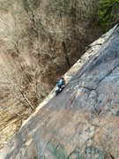 Rock Climbing Photo: The end of Pitch 2's difficulties.