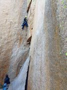 Rock Climbing Photo: Leading Fear of Flying for the Granite Gripper