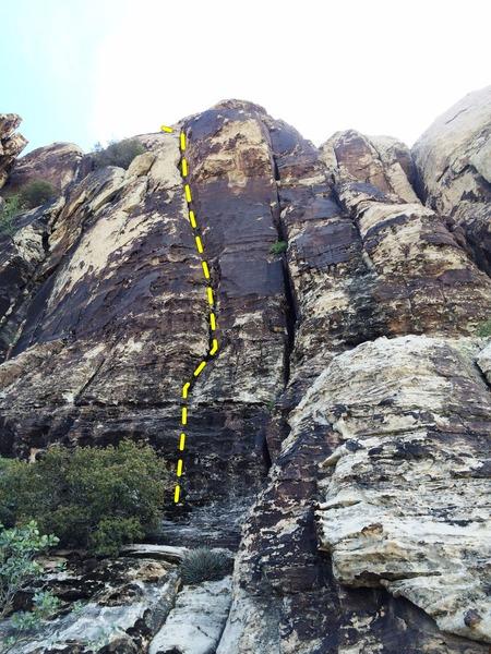 Rock Climbing Photo: Start of Lucky Charms