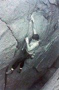 Rock Climbing Photo: Ron Kauk on Mother Superior (5.11+), Mount Woodson...