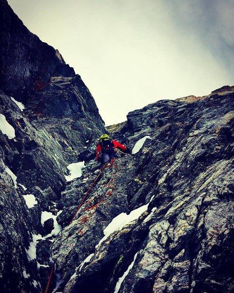 Rock Climbing Photo: P1 of The Slit.