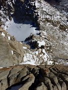 Rock Climbing Photo: Looking down the headwall towards the notch at the...