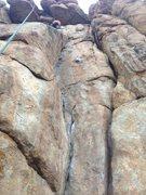 Rock Climbing Photo: Steph nearing the top of the spectacular climb Kat...