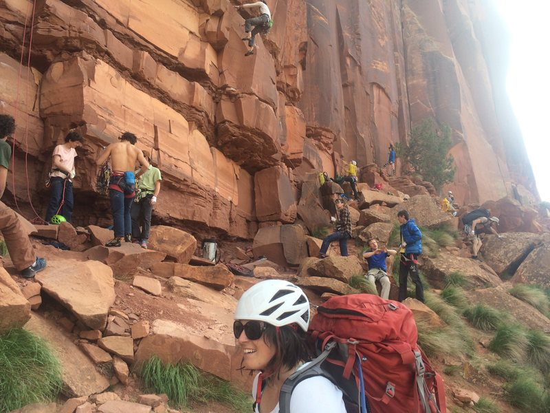 Rock Climbing Photo: Busy day at Reservoir Wall, Friday late April 2016