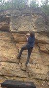 Rock Climbing Photo: Holding onto the sloper/undercling