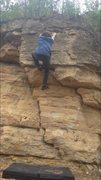 Rock Climbing Photo: Holding on to the edge