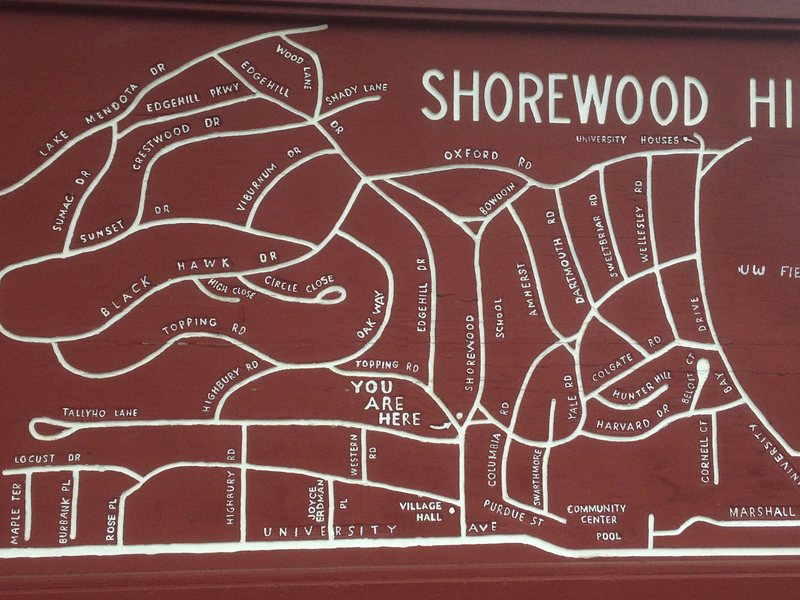The Shorewood Hills neighborhood