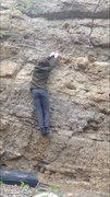 Rock Climbing Photo: Holding onto the next edge