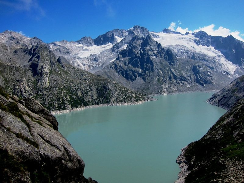 Just above the lake level, and, below the Capanna Albigna hut is the Seeplatten.