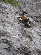 Rock Climbing Photo: JB headin' for anchorage on Madam Butterfly