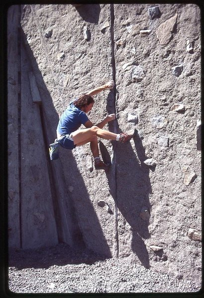 Rock Climbing Photo: at UW Practice Rock. Photo by Jeff Smoot. c. 1985