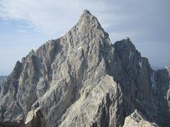 Rock Climbing Photo: North Face and North Ridge of the Grand--Late Augu...