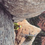 Rock Climbing Photo: The fourth pitch, really short, maybe 80 feet but ...