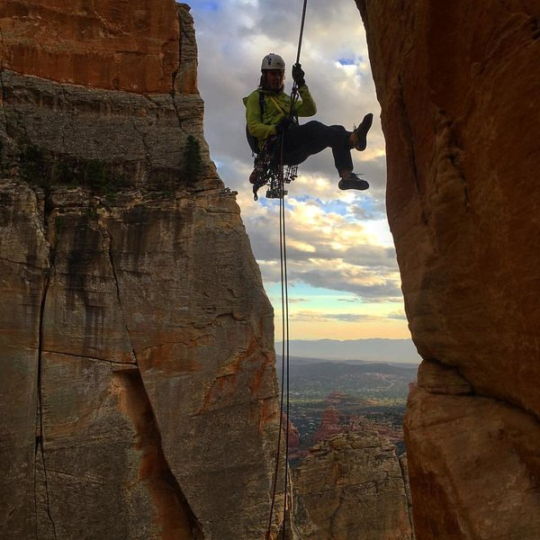 The hanging rappel from Earth Angel!! Definitely beautiful!