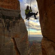 Rock Climbing Photo: The hanging rappel from Earth Angel!! Definitely b...