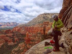 Rock Climbing Photo: This is the start ledge. It seems deceptive since ...