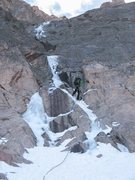 Rock Climbing Photo: Alexanders Chimney, Longs Peak