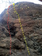 Rock Climbing Photo: Opening Day (left/red) and Hammerthumb (right/yell...