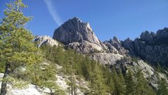 Rock Climbing Photo: Another view of Battle Mountain from the ridge on ...