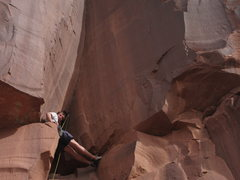 Rock Climbing Photo: Resting below the beautiful finger crack, on &quot...
