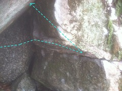 Rock Climbing Photo: The middle section