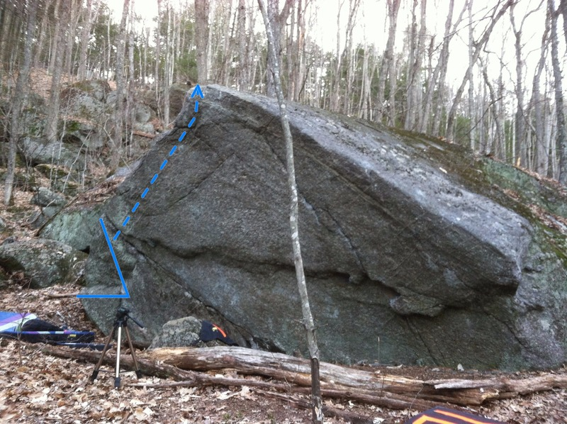 Rock Climbing Photo: Start somewhere in the V and follow the arete.