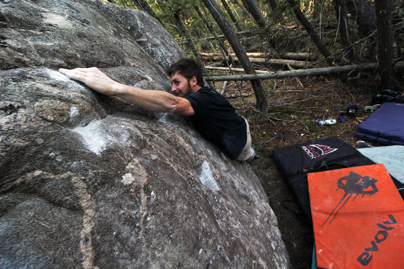 Rock Climbing Photo: Kyle sussing it out