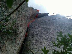 Rock Climbing Photo: Sombrero route 5.8+