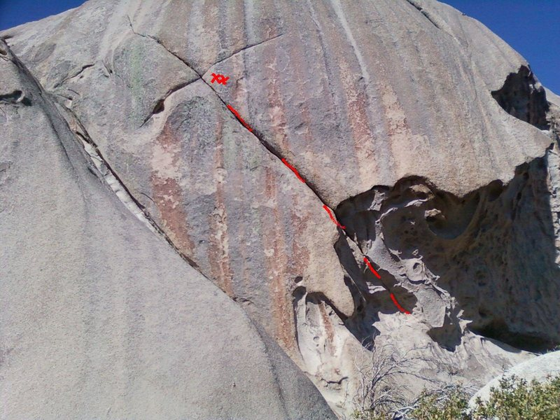Trad route east side of western most dome