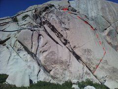 Rock Climbing Photo: Aid route east side of west dome