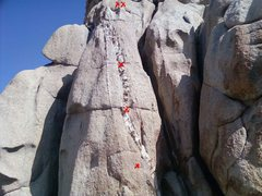 Rock Climbing Photo: Bolted route south aspect of 2nd west dome