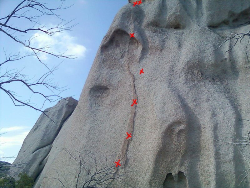 Rock Climbing Photo: bolted route southern most dome