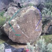 Rock Climbing Photo: Front of boulder.