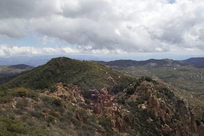 Rock Climbing Photo: East from summit toward Mazatzal Divide.