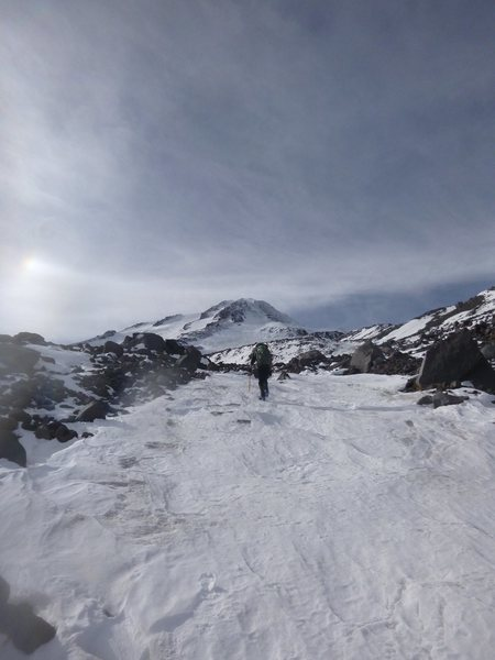 Rock Climbing Photo: Climbing the Hotlum-Wintun Ridge, Mt. Shasta