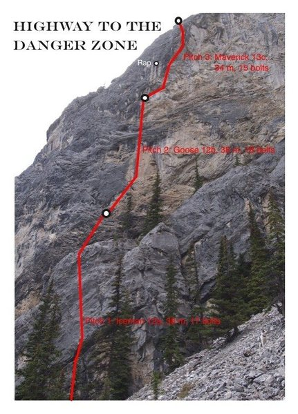 from Squamish Magazine (http://squamishclimbingmagazine.ca/bow-valley-news-new-multi-pitch-in-echo-canyon-highway-to-the-danger-zone/)
