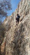 "Rock Climbing Photo: Cranking it to ""11"" at Filopappou."