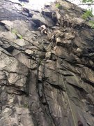 Rock Climbing Photo: climbing crown of thorns...thanks for the belay gu...