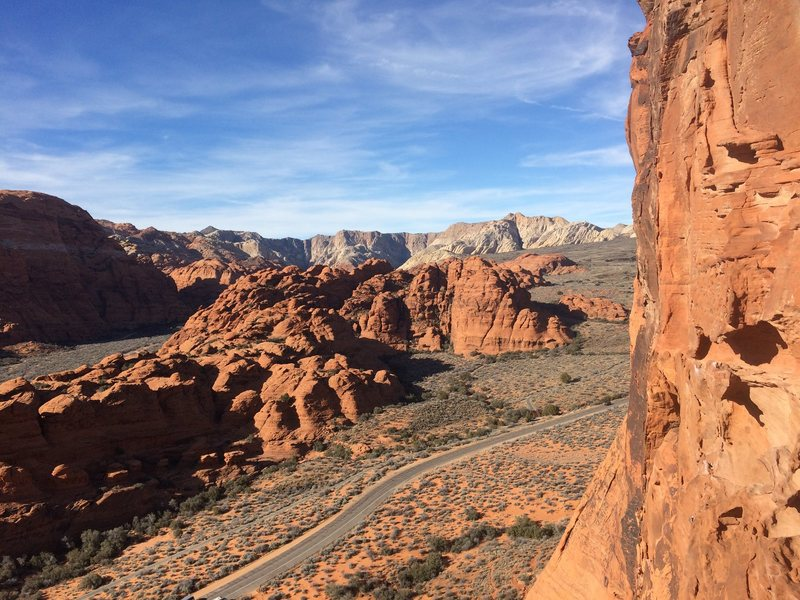 Rock Climbing Photo: Snow Canyon from up on The Richness of it All