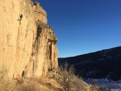 Rock Climbing Photo: Dave on The Wilds, Sinks Canyon